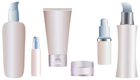 cosmetic container Stock Photography