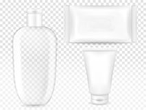 Cosmetic container and package vector illustration stock illustration