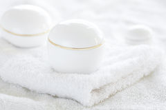 Cosmetic containers Royalty Free Stock Images