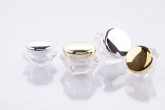Cosmetic containers. Royalty Free Stock Photography
