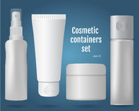 Cosmetic containers set Stock Photography