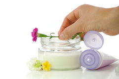 Cosmetic cream. For the concern about the skin Stock Photo