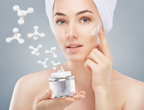 Cosmetic cream Stock Photo