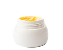 Cosmetic cream in container Royalty Free Stock Photos
