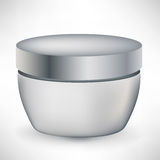 Cosmetic cream container isolated Royalty Free Stock Photos