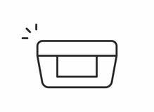 Cosmetic cream icon Stock Image