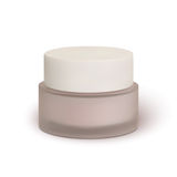Cosmetic cream jar,  on white background Stock Images