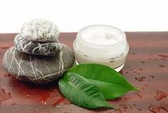 cosmetic cream spa πέτρες Στοκ Φωτογραφία