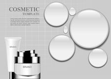 Free Cosmetic Cream With Big Water Drops On White Background Royalty Free Stock Images - 111227689