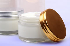 Cosmetic creams Stock Photos