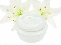 Cosmetic creme for face Stock Image