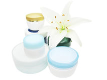 Cosmetic creme for face Royalty Free Stock Images