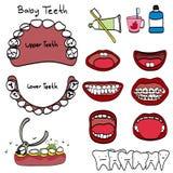 Cosmetic dentist vector illustration