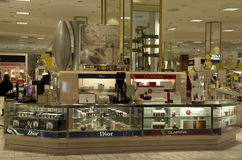 Cosmetic department store. Cosmetic department in Macy's store at Southcenter Mall Seattle Stock Photo