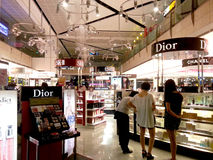 Cosmetic duty free outlet in airport