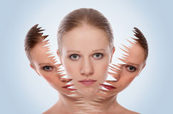 Cosmetic effect, treatment and care of  skin Stock Image