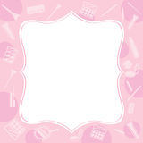 Cosmetic equipments border Stock Images