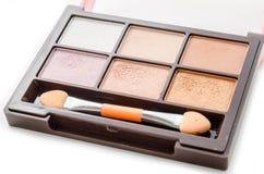 Cosmetic eyeshadow palette makeup set. Stock Photo