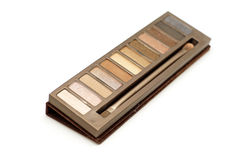Cosmetic eyeshadow palette makeup set Royalty Free Stock Photography