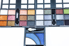 Cosmetic eyeshadows Royalty Free Stock Image