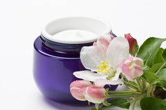 Cosmetic face skin cream Stock Photo