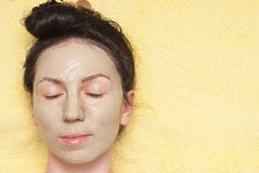Cosmetic facial mask Stock Image