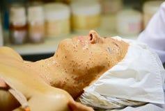 Cosmetic facial mask Stock Photos