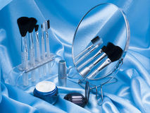 Cosmetic facilities and mirror Stock Image