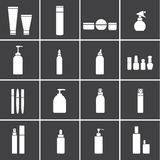 Cosmetic flasks icons Royalty Free Stock Image