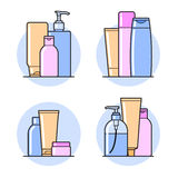 Cosmetic. Flat icons Royalty Free Stock Photo