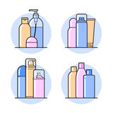 Cosmetic. Flat icons Royalty Free Stock Image