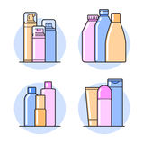 Cosmetic. Flat icons Royalty Free Stock Photography
