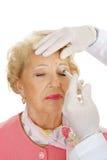cosmetic forehead injection στοκ φωτογραφίες