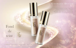 Cosmetic foundation ad Stock Photography