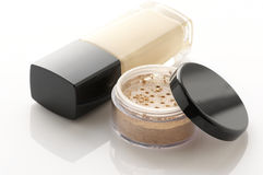 Cosmetic foundation and powder Royalty Free Stock Photos