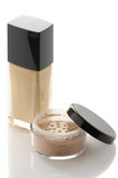 Cosmetic foundation and powder Royalty Free Stock Photo