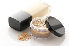 Cosmetic foundation and powder Royalty Free Stock Image