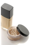 Cosmetic foundation and powder Stock Photo