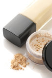 Cosmetic foundation and powder Stock Image
