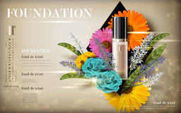 Cosmetic foundation product Royalty Free Stock Photos