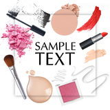 Cosmetic frame Royalty Free Stock Photography