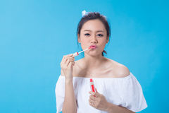Cosmetic girl Royalty Free Stock Images