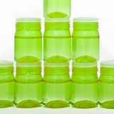 Cosmetic glass containers Stock Photo