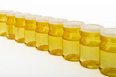 Cosmetic glass containers Royalty Free Stock Images
