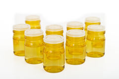 Cosmetic glass containers Royalty Free Stock Photo