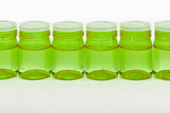 Cosmetic glass containers Royalty Free Stock Photography