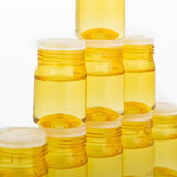 Cosmetic glass containers Royalty Free Stock Image