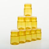 Cosmetic glass containers Stock Photography