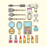 Cosmetic, Haidressing, and Nail Polish Icon Stock Photo