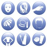Cosmetic Icon Set Stock Photos